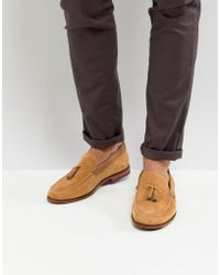 Ted Baker - Dougge Suede Loafers In Stone - Lyst