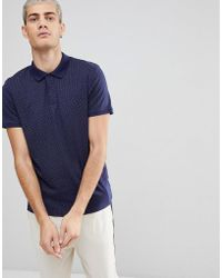 SELECTED - Polo In Polka Dot With Contrast Collar - Lyst