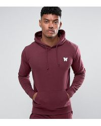 Good For Nothing - Hoodie In Burgundy With Chest Logo Exclusive To Asos - Lyst