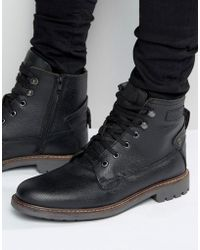Firetrap - Lace Up Military Boots - Black - Lyst