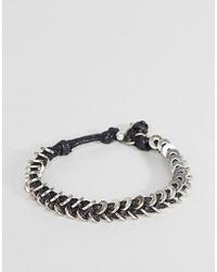 Icon Brand - Wax Cord Bracelet In Black - Lyst