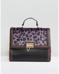 Silvian Heach - Leopard Printed Handheld Bag - Lyst