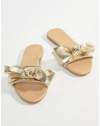 Oasis - Bow Sliders - Lyst