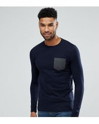 French Connection - Tall Long Sleeve Pocket T-shirt - Lyst