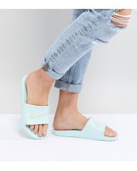 Nike - Kawa Sliders In Mint Green - Lyst