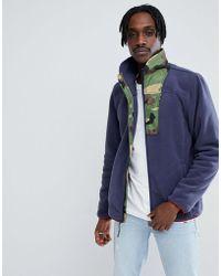 Herschel Supply Co. - Full Zip Fleece Sweat Camo Collar In Navy - Lyst