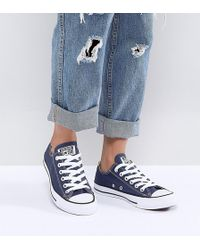 Converse - Chuck Taylor Low Trainers In Blue - Lyst
