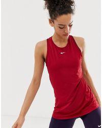 Nike - Nike Pro Training Tank In Red - Lyst