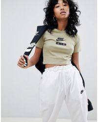 1171990b2 Nike Air Longline T-shirt With High Shine Logo in Black - Lyst