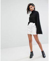 Mango - Ruffle Side Mini Skirt - Lyst