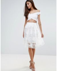 Zibi London - Floral Organza Skirt - Lyst