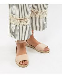 Truffle Collection - Wide Fit Espadrille Flat Sandals - Lyst