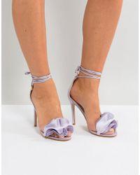 Public Desire - Sugar Lilac Heeled Sandals - Lyst