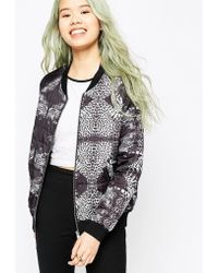 A Question Of | Question Of Leopard Bomber Jacket | Lyst