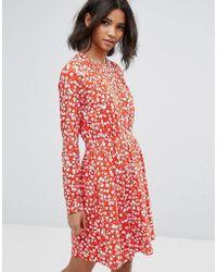 Vila - Floral Printed Shift Dress - Lyst