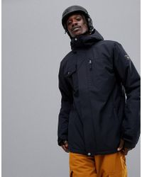 Quiksilver - Mission Solid Snowboard Jacket In Black - Lyst