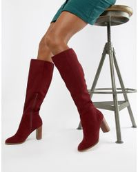 ASOS - Chase Suede Knee High Boots - Lyst