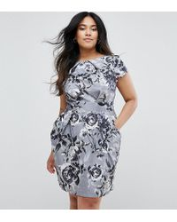 Closet London Plus - Closet Plus Pencil Dress In Floral Print - Lyst