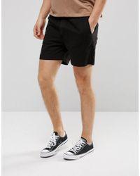 Weekday   Denim Shorts Overdye Black   Lyst