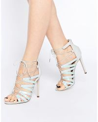 ASOS - Hallie Lace Up Heeled Sandals - Lyst