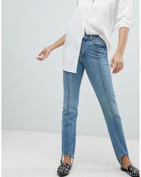 Vero Moda - Stirrip Straight Leg Jeans L32 - Lyst