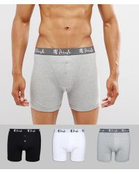 Pringle of Scotland - 3 Pack Button Fly Boxer Trunks - Lyst