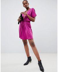 UNIQUE21 - Unique 21 Purple Ruched Waist Dress - Lyst