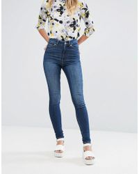 Monki - Oki Skinny High Waist Jeans - Lyst