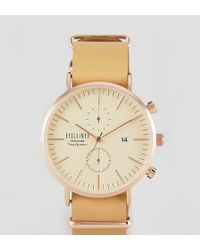 Reclaimed (vintage) - Inspired Chronograph Leather & Canvas Interchangable Watch Gift Set Exclusive To Asos - Lyst