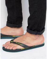 Billabong - Cut It Flip Flops - Lyst