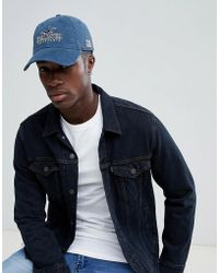 Hollister - Logo Dad Baseball Cap In Washed Navy - Lyst