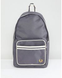 Fred Perry - Twin Tipped Back Pack In Grey - Lyst