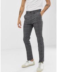 New Look - Pantalon de costume slim carreaux - Lyst