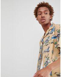 FairPlay - Short Sleeve La Print Bowling Shirt In Stone - Lyst