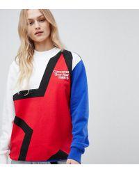 Converse - Exclusive One Star Boyfriend Fit Sweatshirt With Star Logo - Lyst