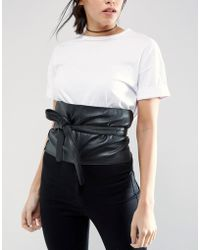 ASOS - Wide Leather Obi - Lyst