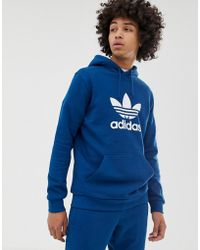 206a6a719fec Lyst - adidas Originals Trefoil Hoodie Ay6473 - Red in Red for Men