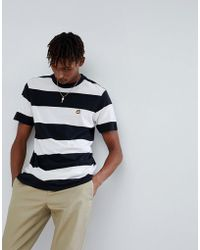 Volcom - X Burger Records Striped T-shirt With Logo - Lyst