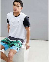 Quiksilver - Colour Blocked Surf T-shirt In White - Lyst