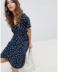 B.Young - Printed Wrap Dress - Lyst