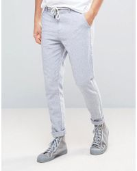 Casual Friday - Tapered Trouser With Tie Detail At Waist - Lyst