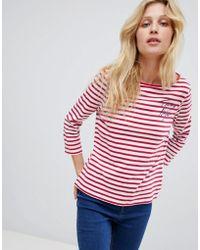 Hilfiger Denim - Tommy Hilfiger Tilly Logo Stripe Long Sleeved T-shirt - Lyst