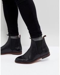 H by Hudson - H London Tamper Leather Chelsea Boots In Black - Lyst