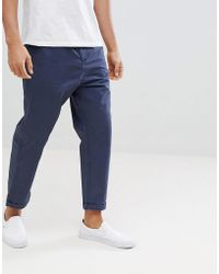 Jack & Jones - Cropped Tapered Trouser - Lyst