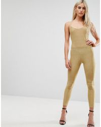 Club L - All Over Metallic Jersey Legging - Lyst