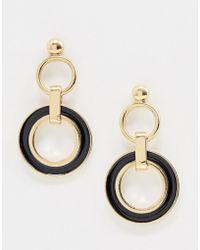 Nylon - Double Hoop Drop Earrings - Lyst