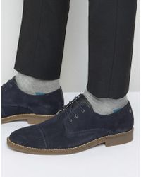 Jack & Jones - Billy Suede Toe Cap Derby Shoes - Lyst