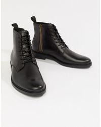 ALDO - Botas de cuero negro con cordones Alenia de - Lyst