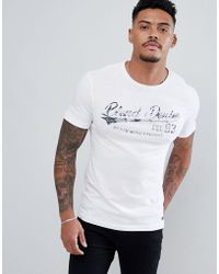 Blend - T-shirt In White With Logo Print - Lyst
