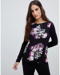 Ted Baker - B By Sunlit Floral Jersey Long Sleeve Pajama Top - Lyst